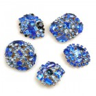 Lot of 5 pc. Rhinestone Buttons ~ #08