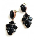 Dramatic Earrings Pierced ~ Black