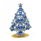 Xmas Tree Standing Decoration 2019 #19 ~ Sapphire Blue