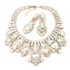 Absolue Necklace Set with Earrings ~ Clear Crystal