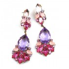 Fancy Essence Earrings Pierced ~ Fuchsia Violet