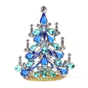Xmas Tree Standing Decoration 2018 #03 ~ Aqua Blue Clear