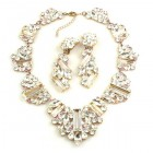 Ffion Necklace Set ~ Clear Crystal