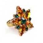 True Love Ring ~ Topaz with Emerald