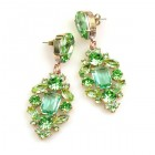 Fatal Touch Earrings Pierced ~ Peridot Green
