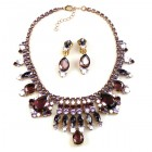 Cleopatra Necklace with Earrings ~ Purple