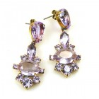 Marlene Earrings Pierced ~ Violet