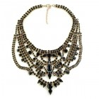 Crazy Meadow Necklace ~ Black