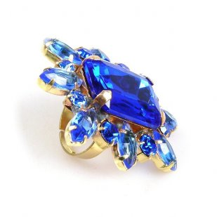 Naomi Ring Extra Big ~ Blue