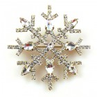 Snowflake Pin ~ Clear Crystal #1