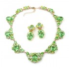 Lite Iris Necklace Set ~ Peridot Green