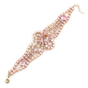 Pure Luxury Bracelet ~ Pink with Opaque Pink