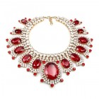 Infinite Dream Necklace ~ Red and Crystal