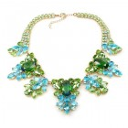 Iris Grande Necklace ~ Green Aqua