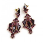 Fatal Kiss Earrings Pierced ~ Purple