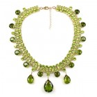 Raindrops Necklace ~ Olive Green