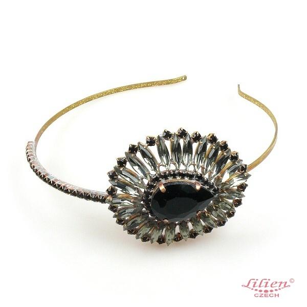 Crystal Eye ~ Headband Tiara ~ Black Diamond   LILIEN CZECH ... 6aafe1813ea