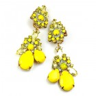 Parisienne Bloom Earrings Clips ~ Sunshine