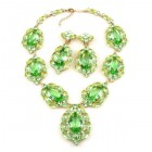 Sonatine Set with Earrings ~ Peridot Green