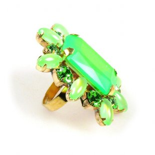Naomi Ring Extra Big ~ Neon Green