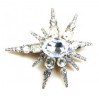 Monstrance Star Barrette ~ Clear Crystal