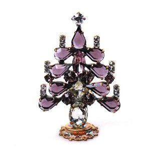 Xmas Tree Standing Decoration 2018 #16 ~ Purple Clear