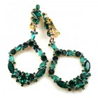 Paradise Valley Clips Earrings ~ Emerald