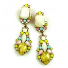 Miracle Pierced Earrings ~ Pastel Colors Opaque Yellow