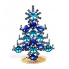 Xmas Tree Decoration Rings and Navettes ~ Clear Aqua