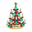 Xmas Tree Standing Decoration 2020 #03 ~ Emerald Clear Red