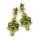 Fatal Kiss Earrings Pierced ~ Olive Green