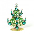 Rivoli Xmas Stand-up Tree 8cm ~ Green Emerald