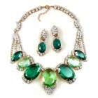 Velvet Poison Necklace Set ~ Crystal with Green