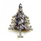 Xmas Tree Brooch #02 ~ Purple Clear