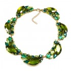 Brilliant Dew Necklace ~ Olive and Green Tones