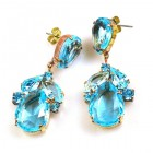 Anna Marie Earrings Pierced ~ Aqua