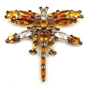 Dragonfly Brooch Extra Large ~ Topaz