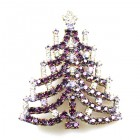 Chain Xmas Tree Brooch #04