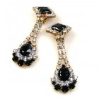 Alexa Earrings with Clips ~ Black