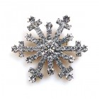 Snowflake Pin ~ Clear Crystal #9