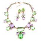 Jelly Belly Necklace Set ~ Green Violet