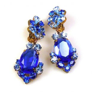 Mythique Clips-on Earrings ~ Blue
