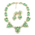Mythique Set Lite ~ Necklace and Earrings ~ Green