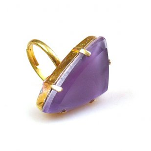 Delta Triangular Ring ~ Violet