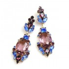 Mythique Earrings for Pierced Ears ~ Blue with Purple