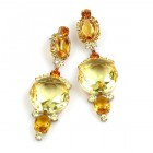 Taj Mahal Earrings Pierced ~ Yellow Jonquil