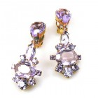 Marlene Earrings Clips ~ Violet