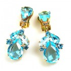 Anna Marie Earrings Clips ~ Aqua