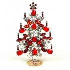 Xmas Tree Standing Decoration 2020 #06 ~ Clear Red