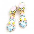 Miracle Clips-on Earrings ~ Opaque Azure Pink